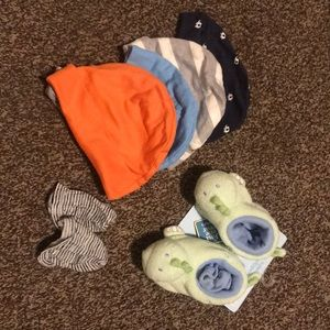 Newborn Hats & slippers